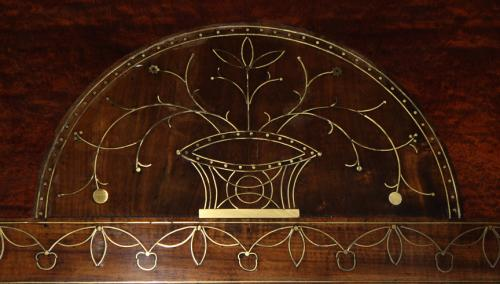 A 19th Century Swedish Mahogany and Brass Inlay Mirror No. 2003
