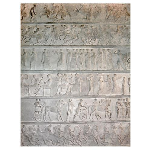 A Unique 19th Century Italian Neoclassical Gesso Bas Relief of Ancient Roman Warriors No. 3038