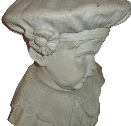 A 19th Century Italian Marble Sculpture of a Young Florentine Schoolboy No. 3147