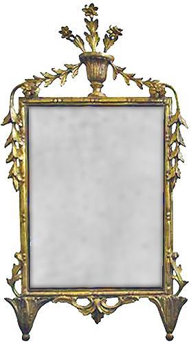An 18th Century Rococo Giltwood Mirror No. 3173