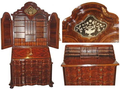 An 18th Century Italian Rosewood and Parquetry Bureau Secretaire No. 3182
