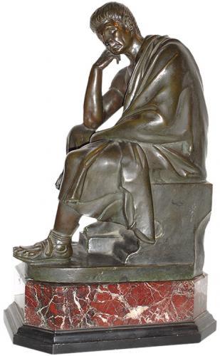 A 19th Century Bronze Neoclassical Roman Figure No. 2887