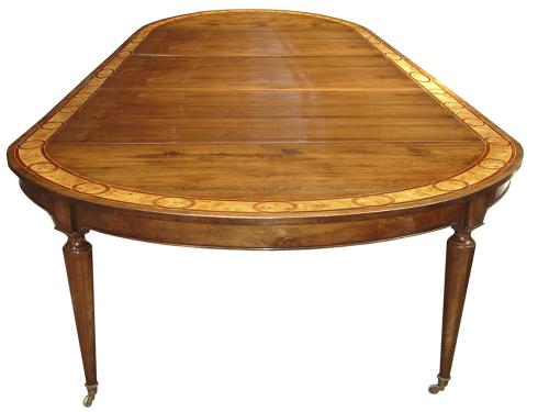 An Italian Expanding Walnut and Parquetry Dining Table No. 3107
