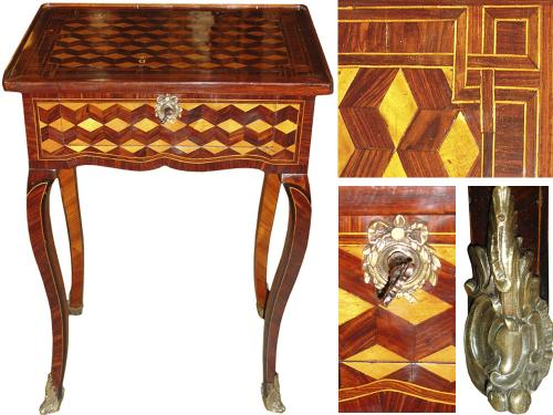 A Mid 18th Century Louis XV Transitional Parquetry Side Table No. 3263