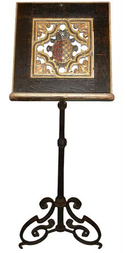A 17th Century Italian Polychrome and Parcel-Gilt Folio or Music Stand No. 3273