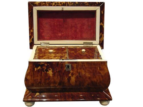 A 19th Century Regency Tortoiseshell Tea Caddy No. 3319
