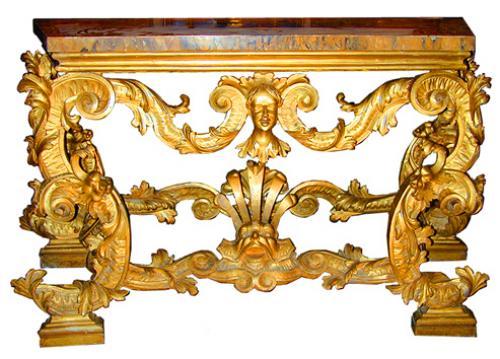 A Rare 18th Century Venetian Giltwood Console Table No. 1862