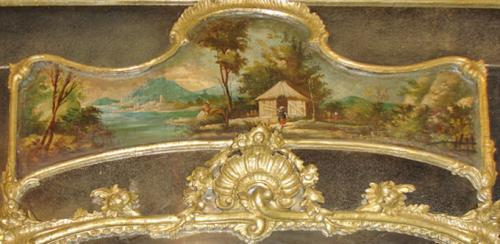 An 18th Century French Louis XV Style Silver Gilt Trumeau Mirror No. 3135