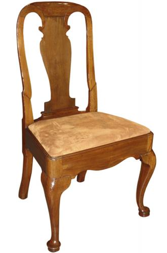 An Early 18th Century Queen Anne Walnut Side Chair No. 3311