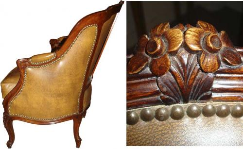 A Pair of Diminutive 19th Century Walnut Chauffeuses Fireside Chairs No. 3377