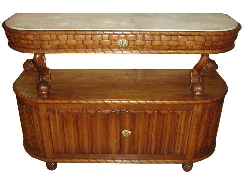 An Unusual Pair of 19th Century French Oak Sideboards No. 3365