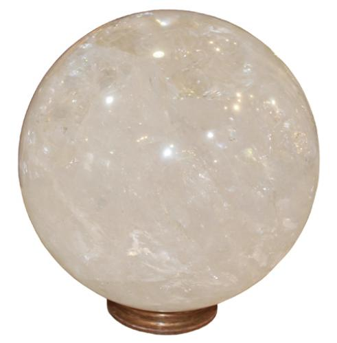 A Rare and Monumental Rock Crystal Globe, 2916