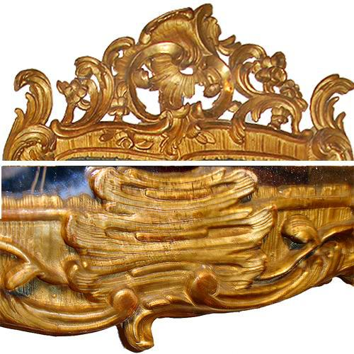 An 18th Century Italian Rococo Giltwood Pier Mirror No. 3397