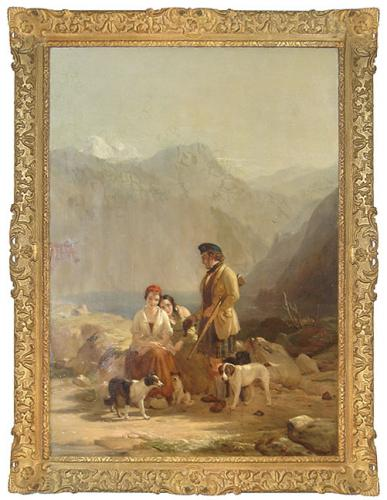 A Mid-19th Century English Oil on Canvas Landscape No. 3476