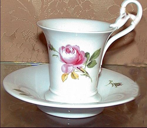 An English Meissen Cup and Saucer No. 873
