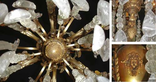 A 19th Century Italian 24-Light Gilt Bronze and Rock Crystal Chandelier No. 3487