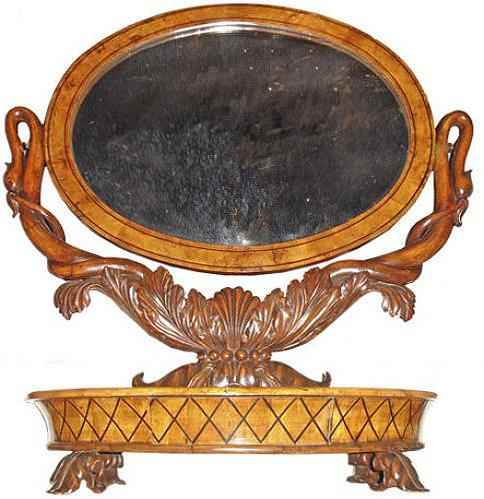 A 19th Century Charles X Cheval Mirror No. 2715