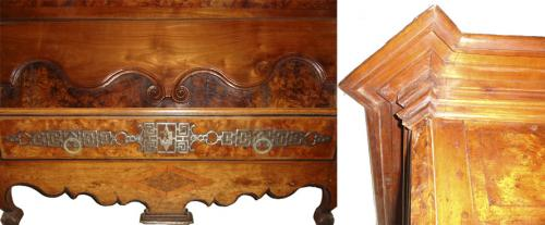 An 18th Century French Louis XV Elm and Cherry Wood Bonnetiere 406