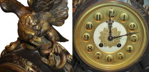 A Black Marble and Bronze Clock No. 1647