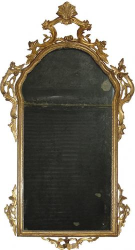 An 18th Century Italian Rococo Giltwood Mirror No. 3556