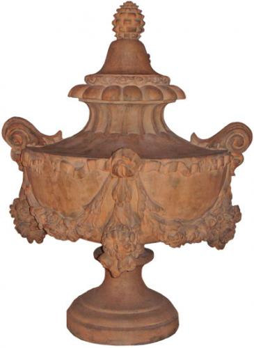 An Early 19th Century Florentine Terra Cotta Urn Finial No. 3587