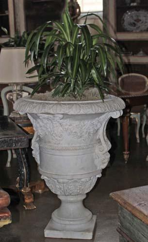 A Pair of Monumental Italian 19th Century White Carrara Marble Borghese Urns 3448