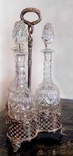 A Set of Three 19th Century French Crystal Decanters  No. 374