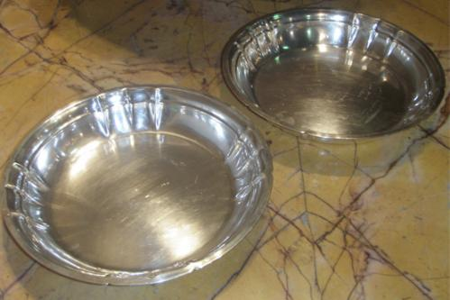 A Pair of Silver Serving Platters No. 3692
