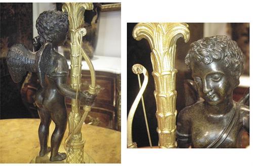 A Pair of 19th Century Italian Bronze Ormolu Candelabra No. 3730