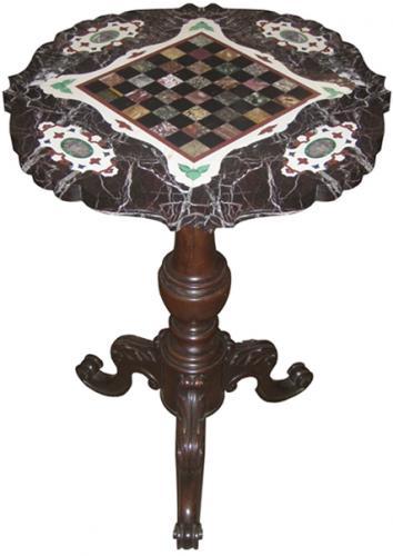 An 19th Century Italian Pietra Dura Specimen Pedestal Table No. 3768