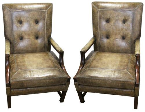 An Important Pair of English George III Gainsborough Chairs No. 3749