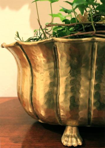 A 19th Century Italian Hammered Brass Bowl Centerpiece No. 3822