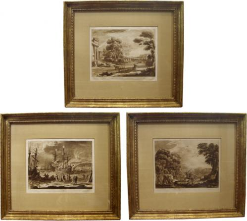 A Set of Three 19th Century English Sepia Prints No. 3809