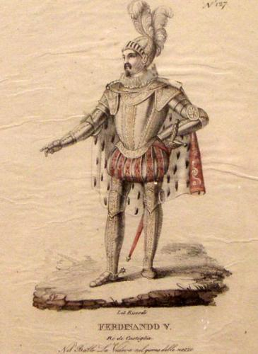 A 19th Century Italian Set of 4 Etchings of Theatrical Opera Characters No. 3807