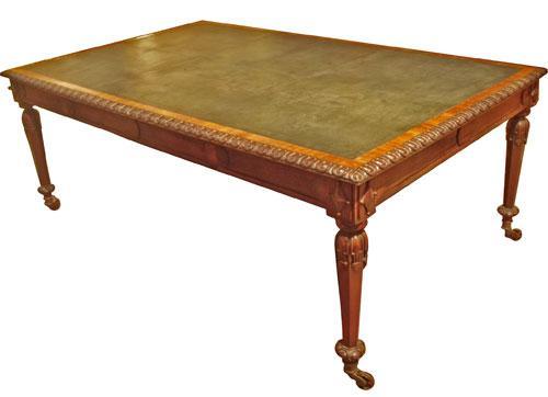 A 19th Century Irish Carved Mahogany Partners Desk No. 3895