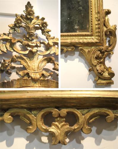 An 18th Century Italian Giltwood Piedmont Mirror No. 4032