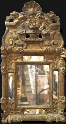 An 18th Century French Rococo Giltwood Mirror No. 4072