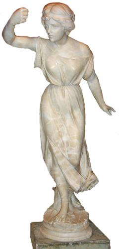 A Magnificent 19th Century Alabaster Statue No. 2716