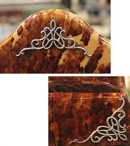 An English Mid-19th Century Tortoiseshell and Sterling Silver Desk Stationery Rack No. 3952