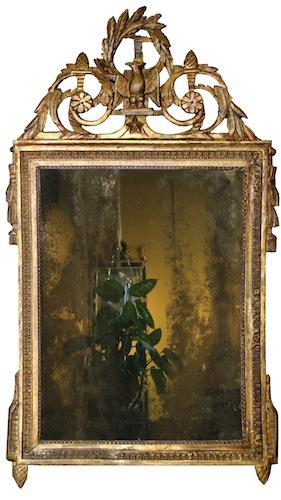 A Late Louis XVI Giltwood Mirror No. 4181
