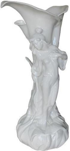 An Early 20th Century French Art Nouveau White Porcelain Vase No. 4243