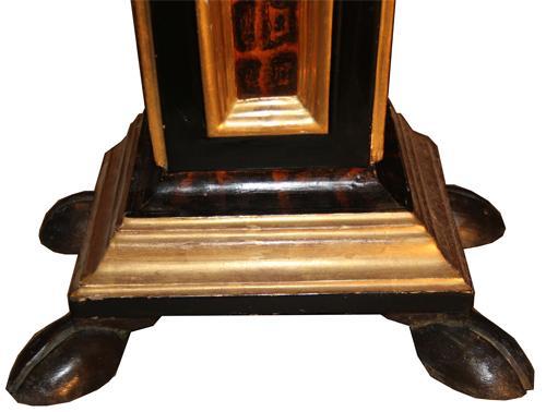 A Pair of Polychrome, Ebonized and Parcel-Gilt Florentine Pedestals No. 4266