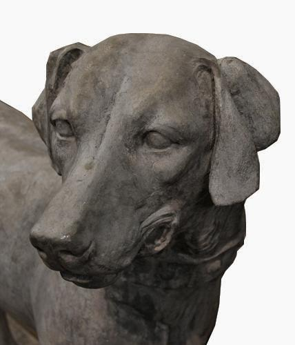 A Rare and Unusually Large 19th Century English Statue of a Champion English Short Haired Pointer No. 4278