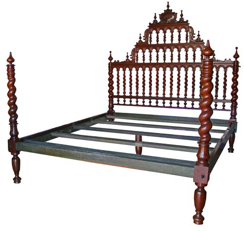 A Magnificent 18th Century King Sized Portuguese Rosewood Bed No. 4280