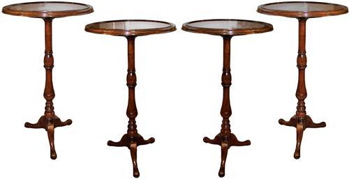 A Set of Four 19th Century Italian Walnut Side Tables No. 4275