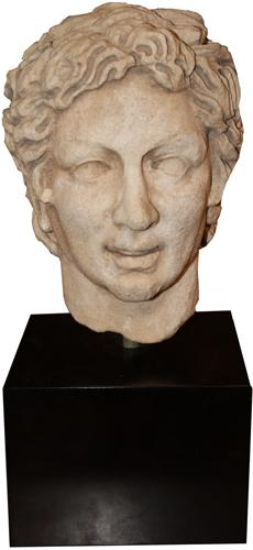 A 4th Century A.D. Ancient Greco-Roman Marble Portrait Head No. 4282