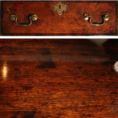 A Fine Early 18th Century Queen Anne Oak Sideboard with Original Finish No. 2259