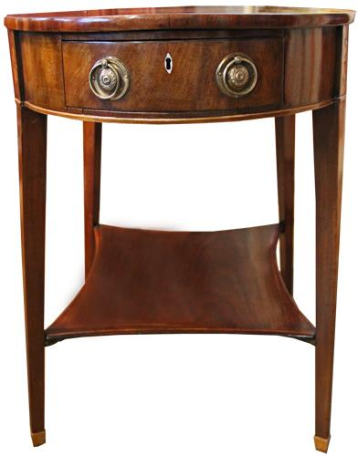 An Understated and Stylish King George III Late 18th Century Mahogany and Crossbanded Oval Side Table No. 4288