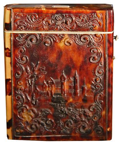 A 19th Century English Pressed Tortoiseshell Card Case No. 4226