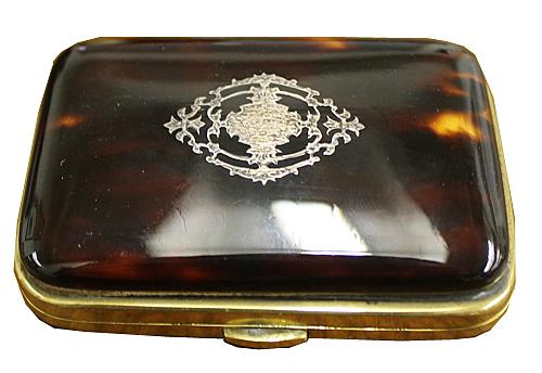 A Mid 19th Century Silver Pique Inlaid Tortoiseshell Coin Purse No. 4231